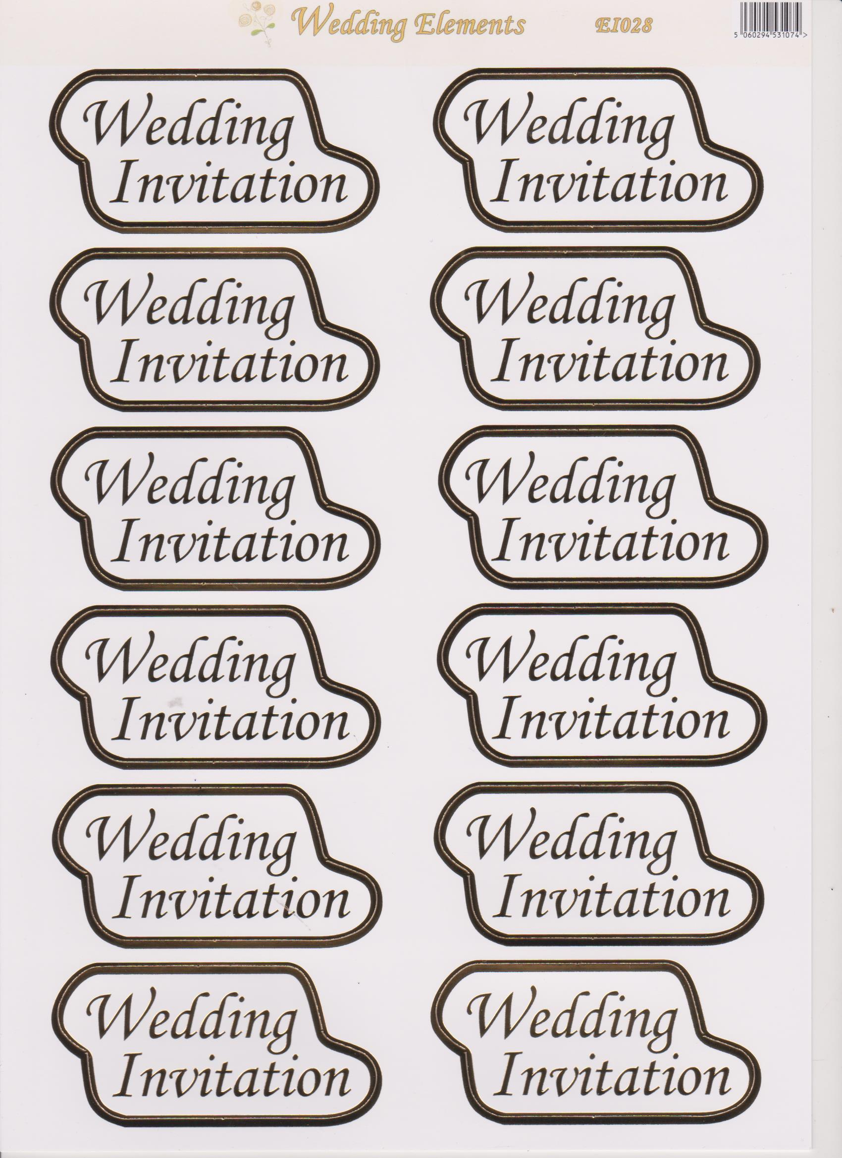 Craft Uk Limited -Wedding Elements Fancy Words   Virgo CraftsVirgo ...