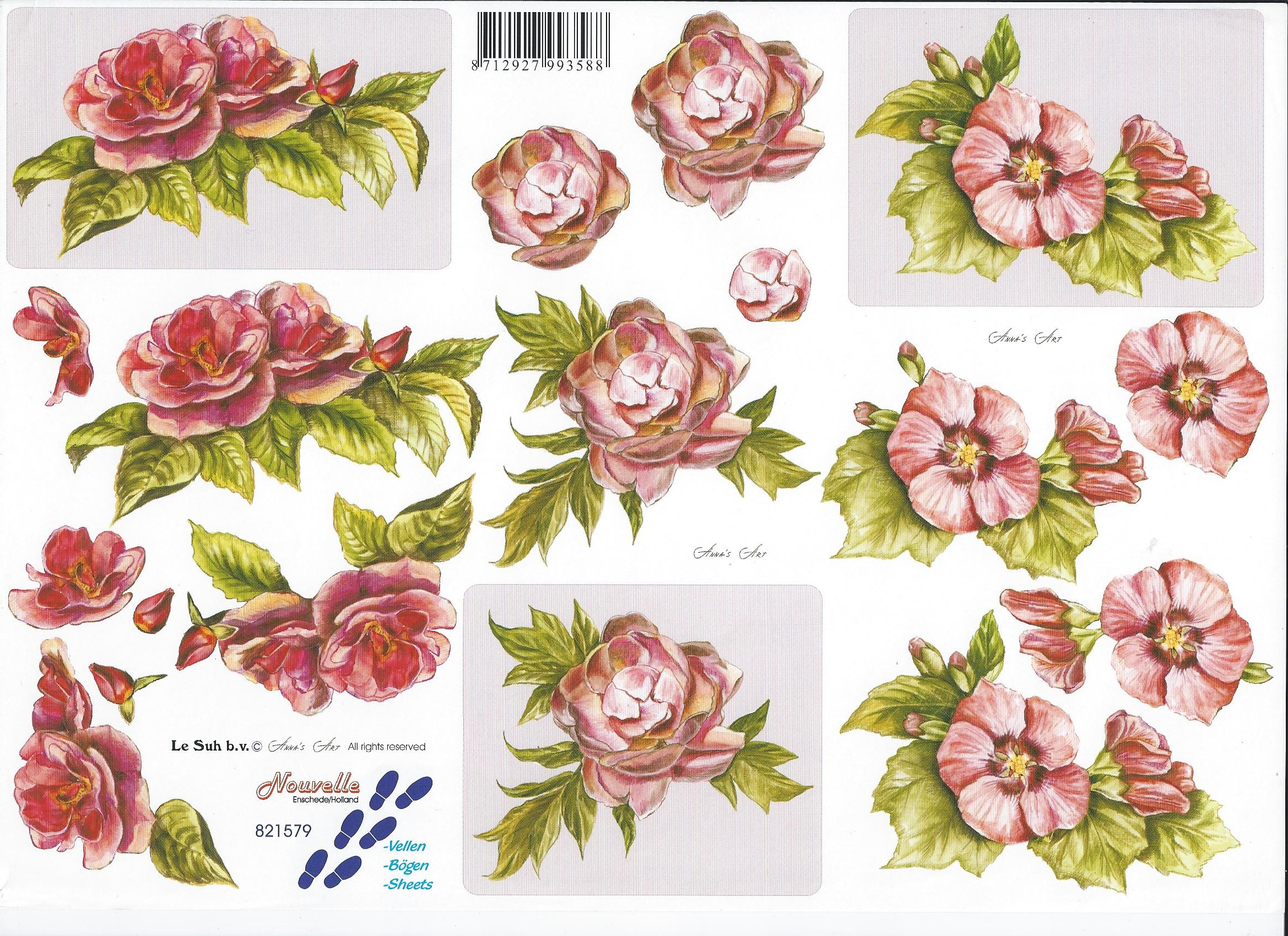 Célèbre Le Suh 3d decoupage - old style roses | Virgo CraftsVirgo Crafts YW09